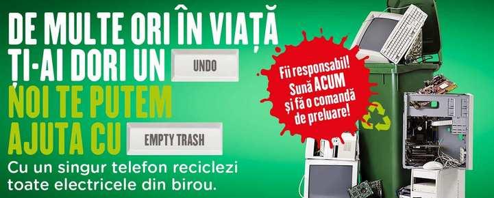 Sâmbătă se colectează deșeurile electrice și electronice